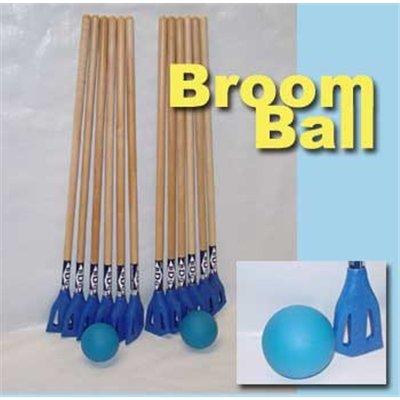 Broom Ball Starter Set (12 Sticks-2 Balls)