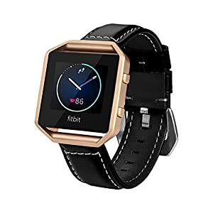 Fitbit Blaze Band, BeneStellar Leather Replacement Small Large Band Bracelet Strap for Fitbit Blaze Smart Fitness Watch ( Without Frame)