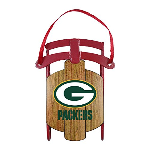 NFL Green Bay Packers Metal Sled Ornament