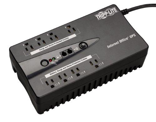 Tripp Lite INTERNET550SER 550VA 300W UPS Desktop Battery Back Up Compact 120V DB9 RJ11 PC, 8 Outlets