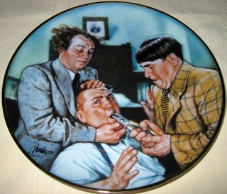 (The Three Stooges Plate - Franklin Mint Collector's Plates 1994 - Yanks for the Memories)