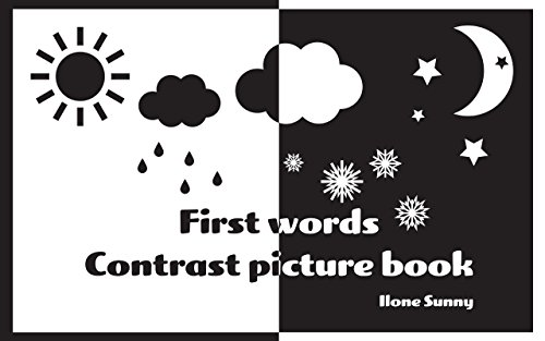 Baby Book First Words Contrast Picture Book Learn To Draw