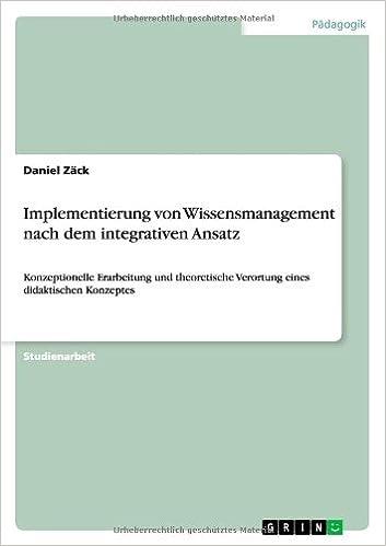 Book Implementierung von Wissensmanagement nach dem integrativen Ansatz
