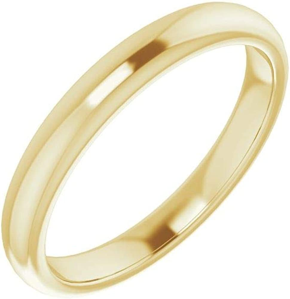 Solid 18K Yellow Gold Curved Notched Wedding Band for 7mm Square Ring Guard Enhancer - Size 7