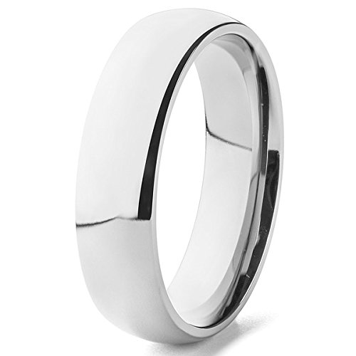 Blue Chip Unlimited Domed Classic Titanium Wedding Band, 6mm