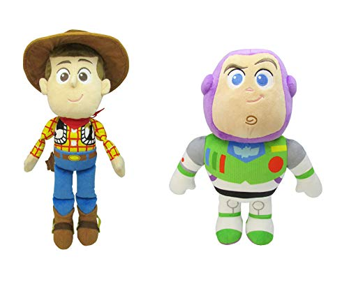 Kids Preferred Bundle Toy Story of 2 - Woody and Buzz Lightyear Plush Figures ()