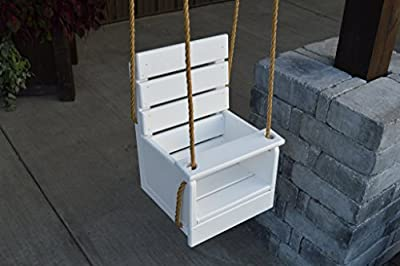 Pine Unfinished Outdoor Classic Child Swing (Rope Included) Amish Made USA