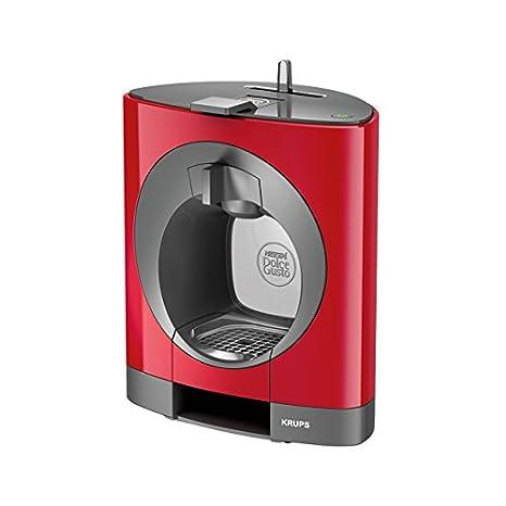 Krups OBLO Red Pod coffee machine 0.8L Gris, Rojo - Cafetera (Independiente, Pod coffee machine, Coffee capsule, Gris, Rojo, Café largo, Capuchino, ...