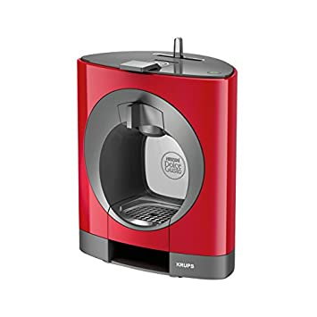 Krups OBLO Red Pod coffee machine 0.8L Gris, Rojo - Cafetera (Independiente, Pod coffee machine, Coffee capsule, Gris, Rojo, Café largo, Capuchino, ...