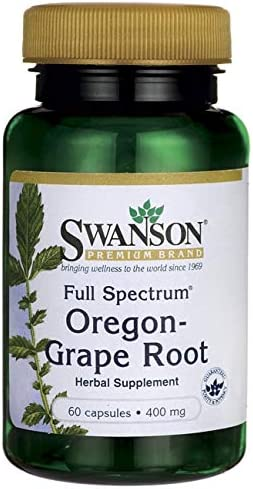 Swanson Full Spectrum Oregon-Grape Root 400 Milligrams 60 Capsules