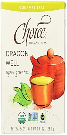 Choice Organic Teas Gourmet Green Tea, Dragon Well, 16 Count