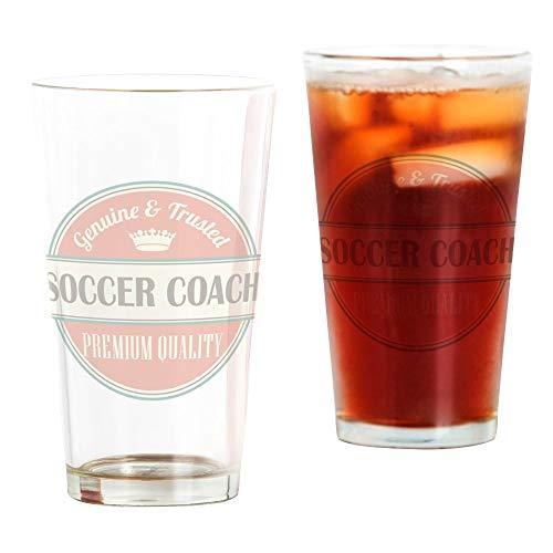 Soccer Pint Glass - CafePress Soccer Coach Vintage Logo Pint Glass, 16 oz. Drinking Glass