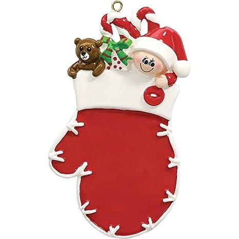 Amazon.com: Personalizado Navidad Ornamentos 2017 calcetín ...