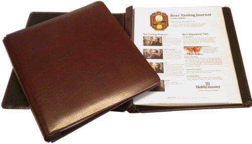 BREW NOTES Leather Beer Tasting Journal - Savor the memories! (Burgundy) (Beer Tasting Gift)