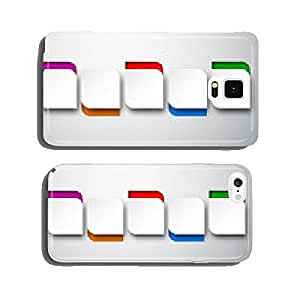 Paper white rounded notes. cell phone cover case Samsung S5