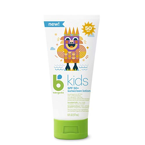 Babyganics Kids Sunscreen Lotion, 6 oz (Pack of 2)