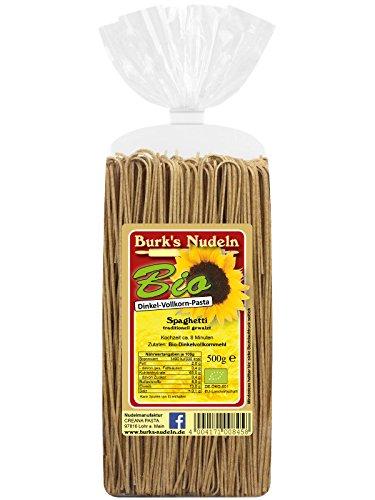 Burk's Bio Dinkel-Vollkorn Spaghetti alla Chitarra - gewalzte Pasta ohne Ei (500 g)