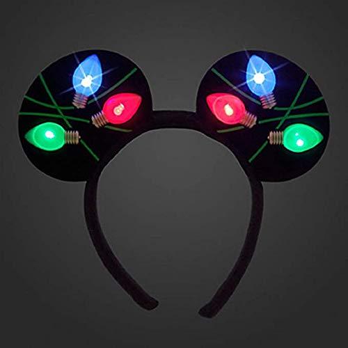 Disney Park Light up Minnie Ears Christmas Party Headband ()