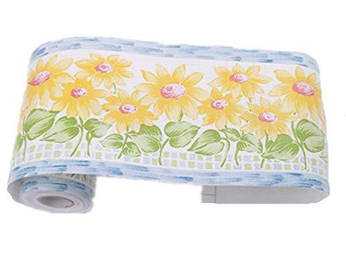 - Amao Peel and Stick Sunflower Wallpaper Border for Bedroom Bathroom Nursery Room Decoration
