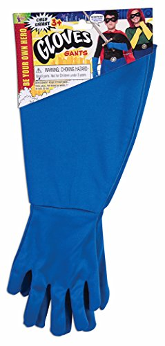 Child Blue Gloves (Forum Novelties Child Super Hero Gauntlet Gloves, Blue)