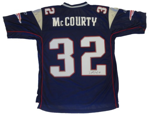 Devin McCourty Autographed New England Patriots Jersey W/PROOF Picture of Devin Signing For Us, New England Patriots, Rutgers Scarlet Knights, 2010 NFL Draft, Top Prospect, Pro Bowl