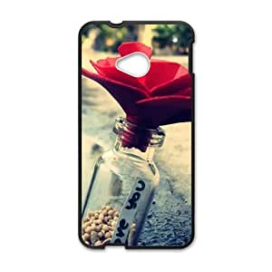 Love You Red Paper Red Paper Flower Personalized Phone Case For HTC M7