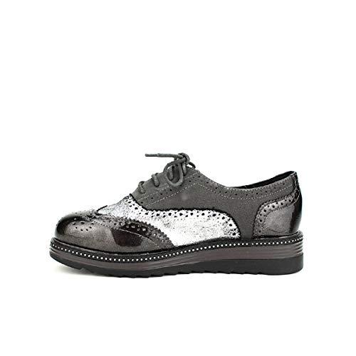 Femme Derbies Chaussures Argentées Argenté Cendriyon Panak WHFBnwAq