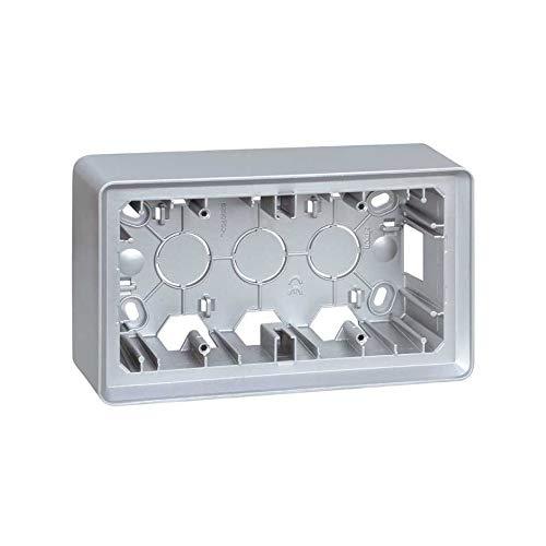 Simon 8200760-093 Caja Superficie 2 Elem Aluminio Frio