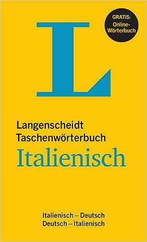 Book Langenscheidt Taschenwörterbuch Italienisch Deutsch (German Edition)