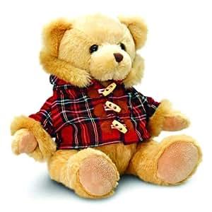 Keel Toys 25 cm Hamish Bear with Tartan Duffle Coat Soft Toy