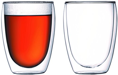 Bodum Pavina Double Wall Cooler/Beer Glass - Set of 2 - Bodum Glass Wall Cooler
