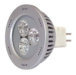 De alta potencia SMD LED MR-16 portalámparas GX5.3 3 vatios blanco frío