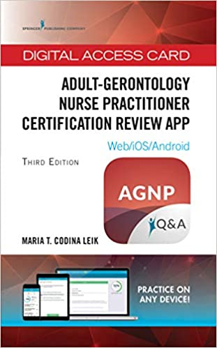 Adult Gerontology Nurse Practitioner Certification Review