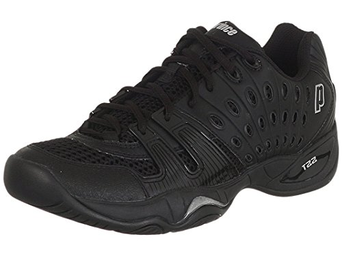 - Prince Men's T22 Tennis Shoes (Black/Black) (14 D(M) US)