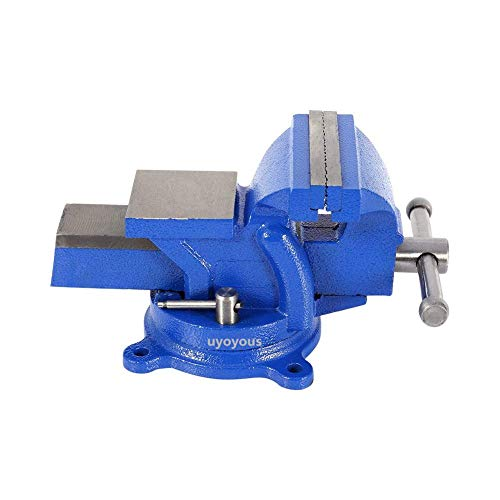 Bench Vises,360°Swivel Bench Vice 6 Inches Workshop Clamp Engineers 150mm Jaw Table Top Clamp Press Swivel Base Heavy ()