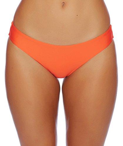 Splendid Women's Sun Sational Solids Retro Pant Bikini Bottom, Orange, M Retro Bikini Pant