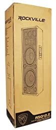 "Rockville RSG12.28 Dual 12"" 2000 Watt 3-Way 8-Ohm Passive DJ/Pro Audio PA Speaker"