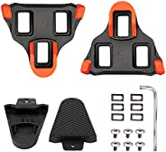 SPD SL Bike Cleats and Cover Set ,Prevents mud and Dirt,Compatible with Shimano SPD-SL Bicycle Cleat,6 Degree
