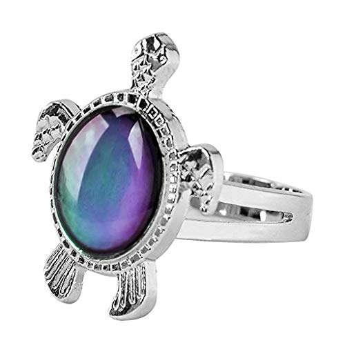 TeemorShop Turtle Mood Ring Color Change Emotion Feeling Rings Temperature For Women Kid Entertainment Gifts