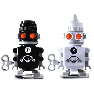 SUCK UK Wind-up Robot Salt & Pepper Shakers