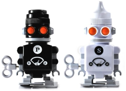 SUCK UK Wind-up Robot Salt & Pepper Shakers