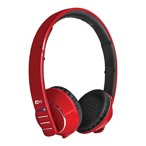MEE audio Runaway 4.0 Bluetooth Stereo Wireless + Wired Headphones with Microphone (Red) by MEE audio