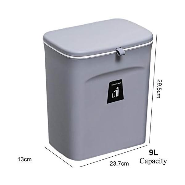 41 1J43hvsL Curious Fish Wandküchenschrank Tür Hängende Tür Kunststoff-Mülleimer mit Deckel Schiebeabdeckung unter Waschbecken…