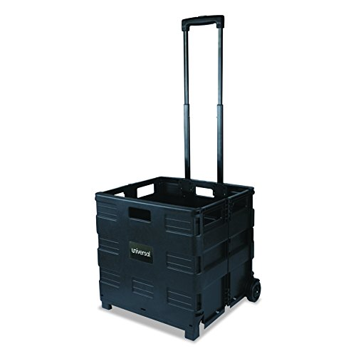 Safco Products 4054BL STOW AWAY Collapsible Mobile Storage Crate, - Cart Folding Mobile File