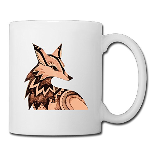 Cool Japan Wolf Ceramic Coffee Mug, Tea Cup | Best Gift For Men, Women And Kids - 13.5 Oz, White