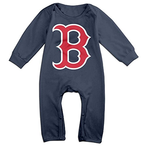 Babe Ruth Baby Costume (HOHOE Newborn Babys Red Boston Long Sleeve Jumpsuit Outfits Navy 18 Months)