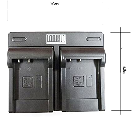 LOOkit LCD Dual Chargeur 2x LOOKit Batterie BX1 pour Sony DSC HX99 HX95 HX350 DSC-RX100 V FDR-X3000R HDR-AS300R HX350 DSC-RX100M5 HX80B RX100 IV HDR-AS50 HX90 V RX100 III RX1R HDR-AS100V BX1