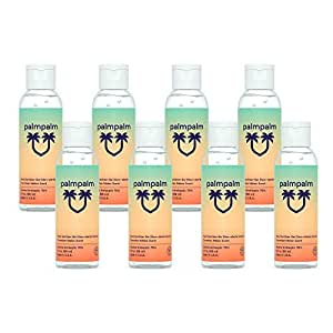 Palmpalm Gel Hand Sanitizer, 2oz Travel Size Multi pack With 70% Alcohol, Great For On The Go, Stay Clean, No Rinse, Instant Clean, Helps To Kill Germs, (Pack Of 8)