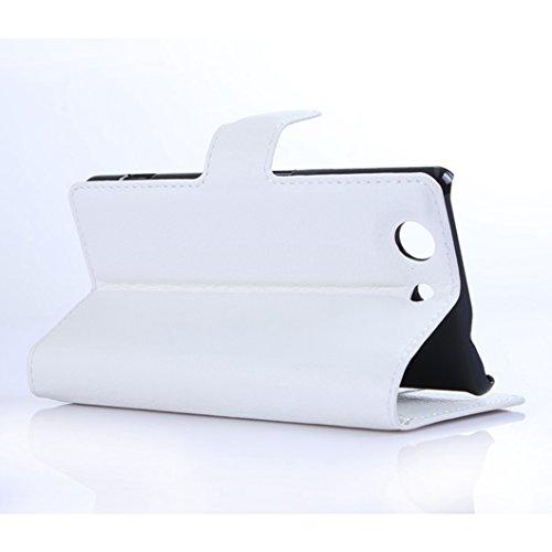 Funda Sony Xperia Z4 mini,Manyip Caja del teléfono del cuero,Protector de Pantalla de Slim Case Estilo Billetera con Ranuras para Tarjetas, Soporte Plegable, Cierre Magnético C