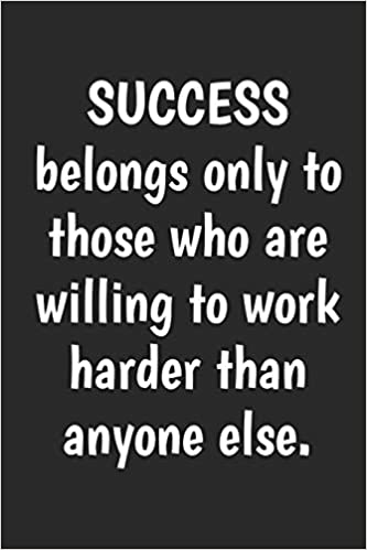 Motivational poster print SUCCESS BELONGS ONLY TO THOSE WHO ARE WILLING TO WORK